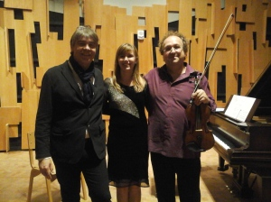 "US premiere of Eric Tanguy's ""In a Dream"" for violin and piano at UCLA - with Guillaume Sutre and Eric Tanguy"