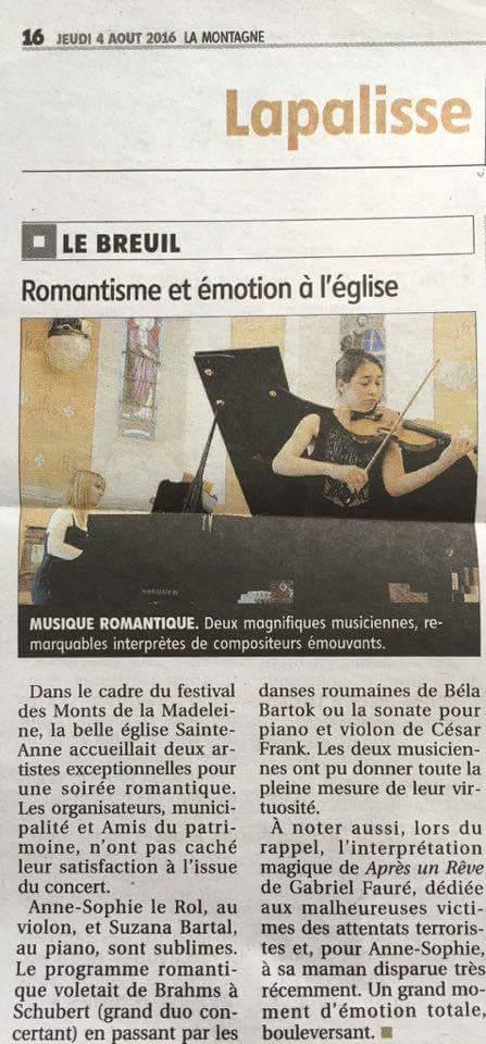 Critique Festival des Monts de la Madeleine 07.16